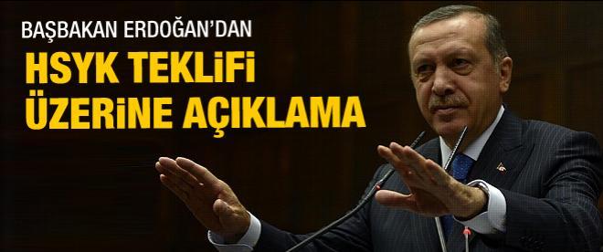 Başbakan Erdoğan'dan HSYK açıklaması