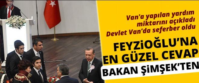 Feyzioğlu'na en güzel cevap Bakan Şimşek'ten