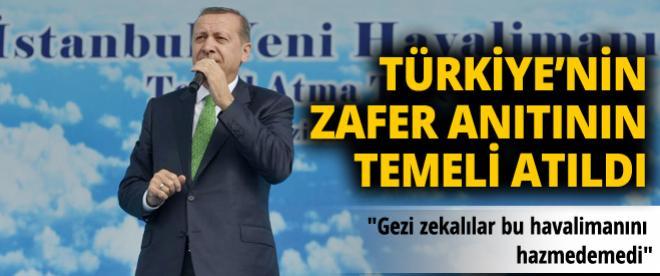 Erdoğan üçüncü havalimanı temel atma törenine katıldı