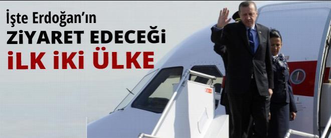 Erdoğan'ın ziyaret edeceği 2 ülke