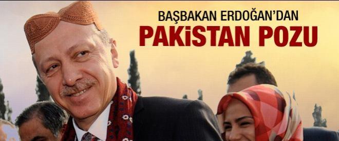 Başbakan Erdoğan'a Pakistan takkesi