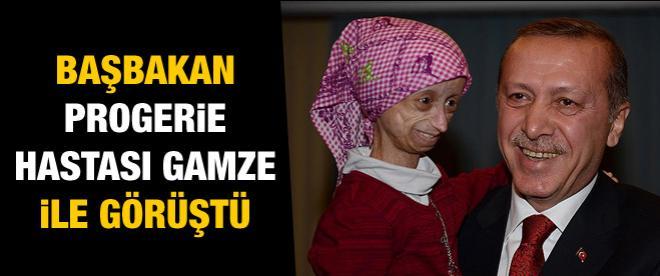 Başbakan Erdoğan progerie hastası Gamze'yle görüştü
