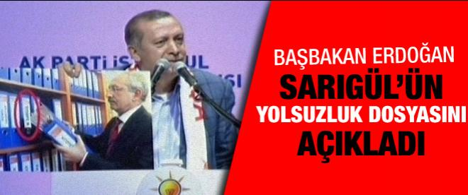 Başbakan Erdoğan Sarıgül'ün yolsuzluk belgelerini açıkladı