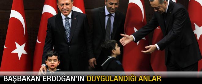 Başbakan Erdoğan'ın duygulandığı anlar
