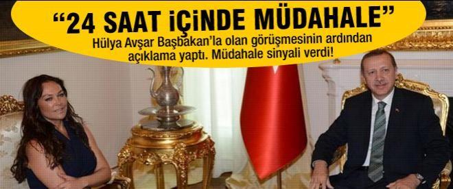 Hülya Avşar Başbakan Erdoğan'la görüştü
