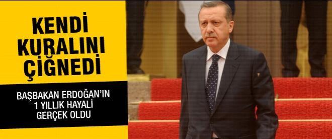 Başbakan Erdoğan bugün ilk kez kuralını bozdu