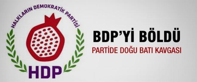 HDP BDP'yi ikiye böldü