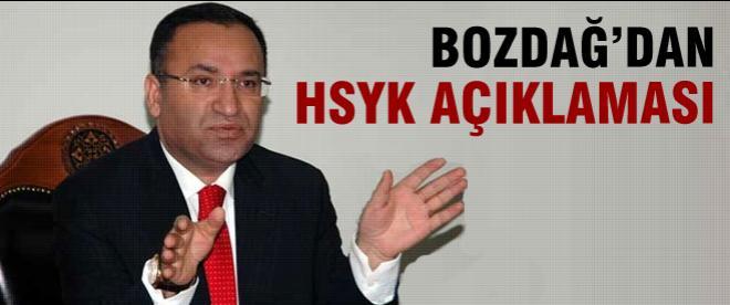Bozdağ'dan flaş HSYK açıklaması