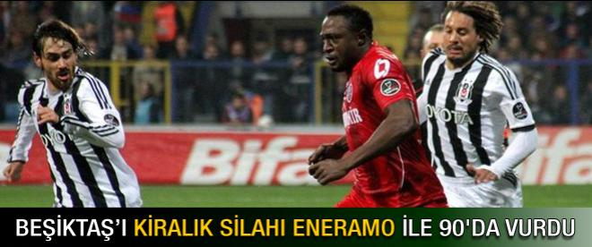 Beşiktaş son dakika golüyle yıkıldı