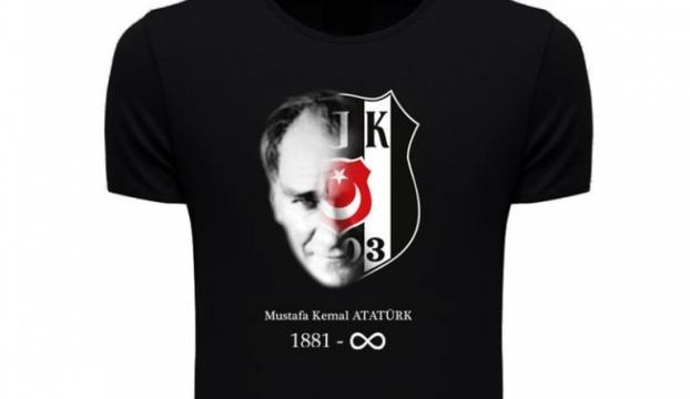 Beşiktaştan Atatürk anısına tişört