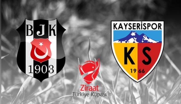 Beşiktaş, kupada Kayserisporu ağırlıyor