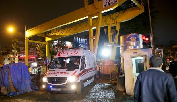 Beşiktaşta metro inşaatında iş kazası: 1 yaralı