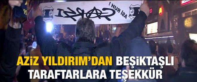 Beşiktaş'tan Aziz Yıldırım' destek