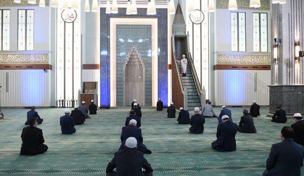 Beştepe Millet Camisinde cuma namazı kılındı