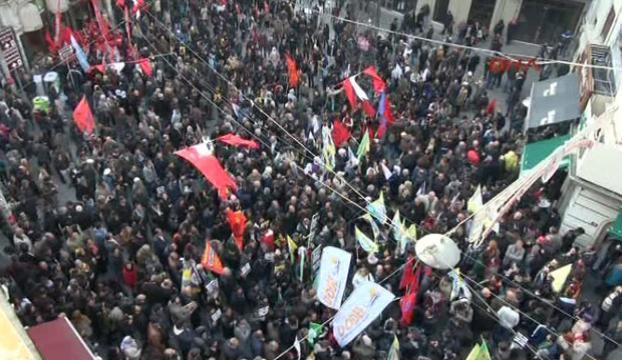 Beyoğlunda Kobani protestosu