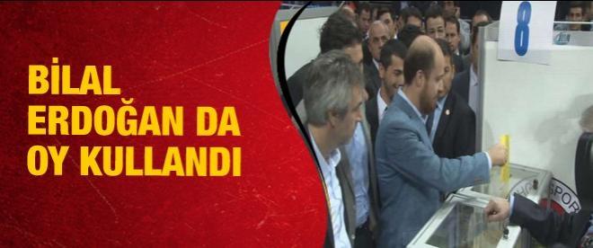Bilal Erdoğan da oy kullandı
