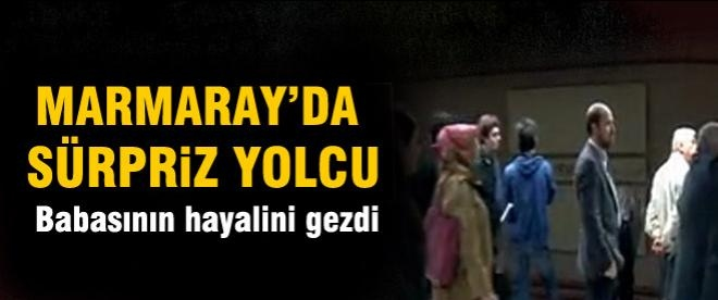 Bilal Erdoğan Marmaray'da