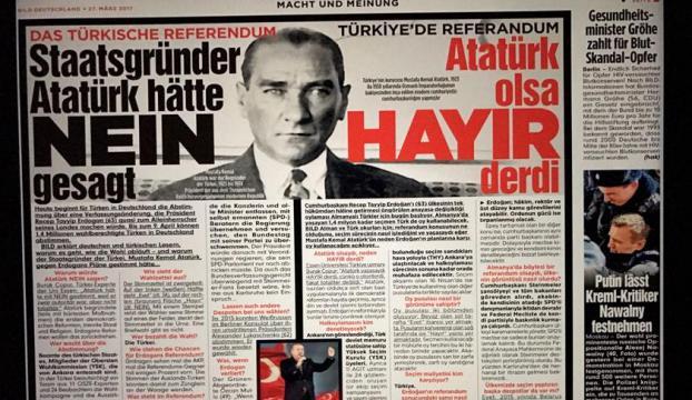 Bild gazetesinden Atatürklü hayır kampanyası