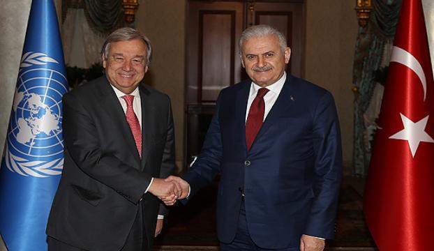 Başbakan Yıldırım BM Genel Sekreteriyle görüştü