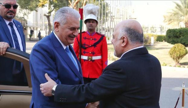Başbakan Yıldırım Irakta resmi törenle karşılandı