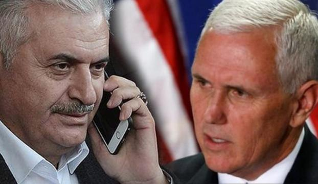 ABD Başkan Yardımcısı, Başbakan Yıldırım ile telefon görüşmesi yapacak