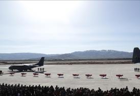 Bitlis'te helikopter kazasında şehit olan 11 asker için Elazığ'da uğurlama töreni düzenlendi
