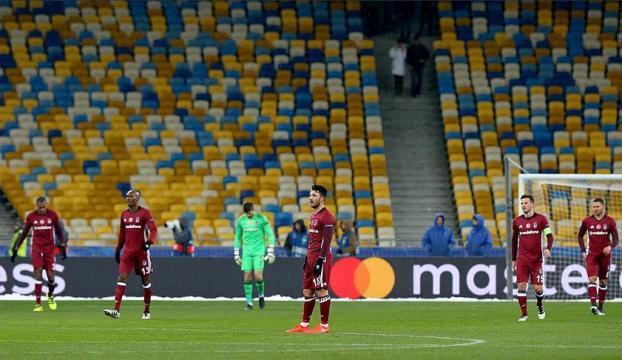 Beşiktaşa Ukraynada soğuk duş: 6-0