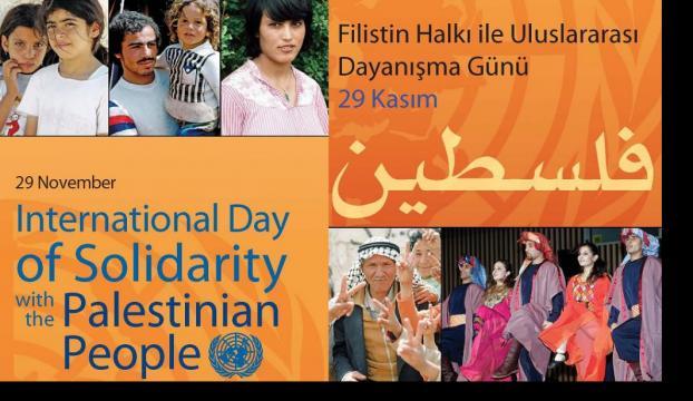 Filistin halkının haklarını koruyacağımıza dair..
