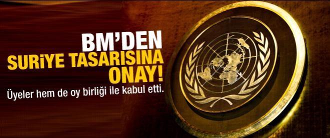 BM'den Suriye tasarısına onay