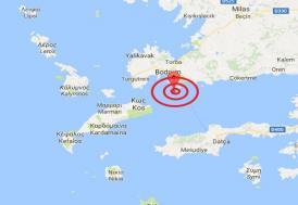 Ege Denizi'nde 6,3 büyüklüğünde deprem