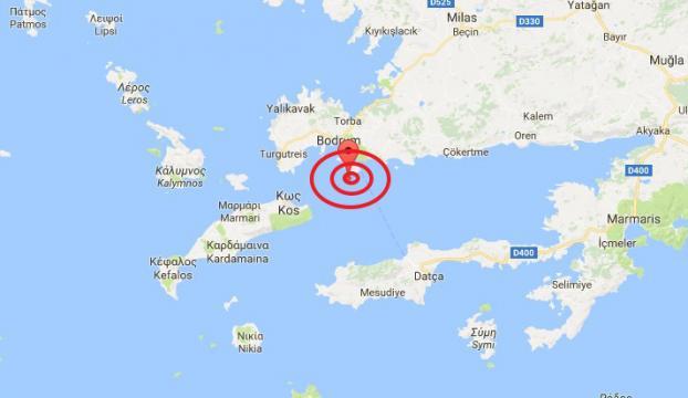 Ege Denizinde 6,3 büyüklüğünde deprem
