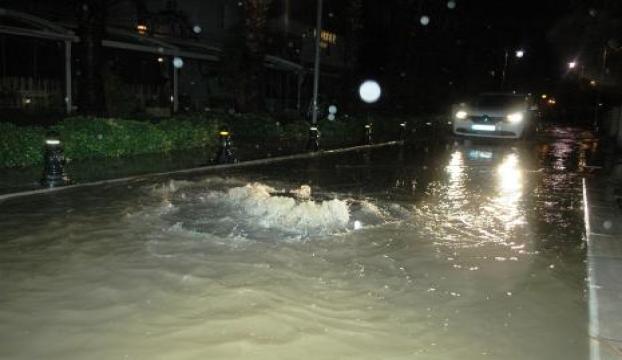 Bodrumda yağmur etkili oldu