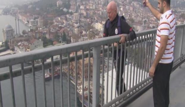 Boğaziçi Köprüsünden nefes kesen atlayış