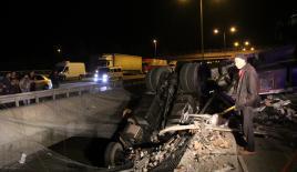 Bolu'da feci kaza : 1 ölü, 4 yaralı