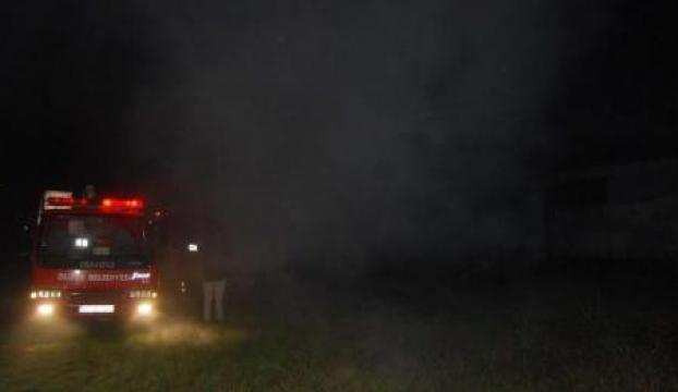 Boş fabrika binasında yakılan ateş korku yarattı