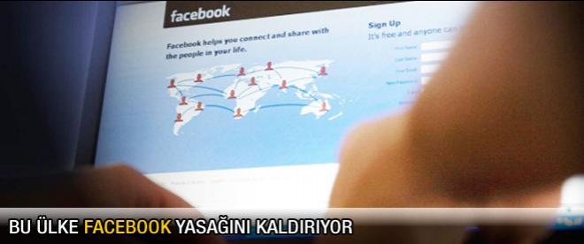 Bu ülke Facebook yasağını kaldırıyor