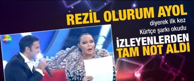 Bülent Ersoy ilk kez Kürtçe şarkı okudu