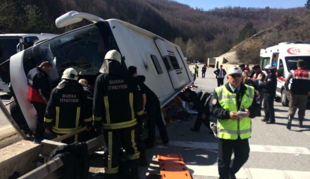 Bursada otobüs kazası... 7 kişi hayatını kaybetti 33 yaralı!