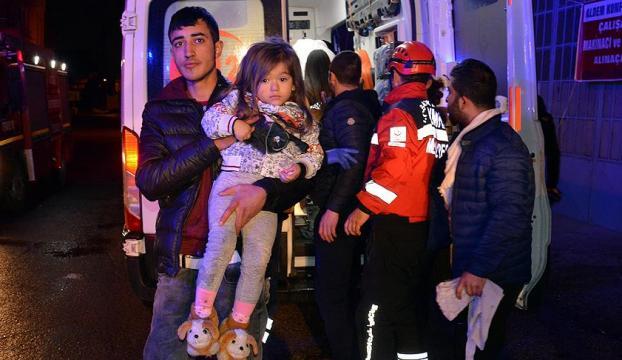 Bursada yangın: 10u çocuk 17 kişi hastaneye kaldırıldı