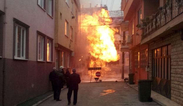 Bursada doğalgaz kazası
