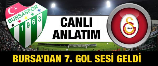 Bursaspor - Galatasaray maçı canlı anlatım