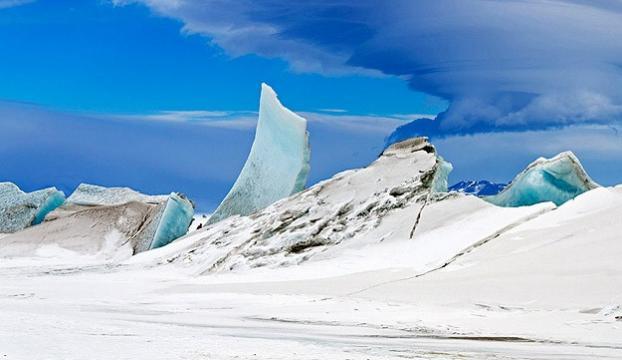Grönlandda temmuzda 197 milyar ton buz eridi