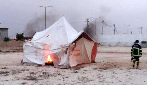 Çadır kentte yangın çıkarsa
