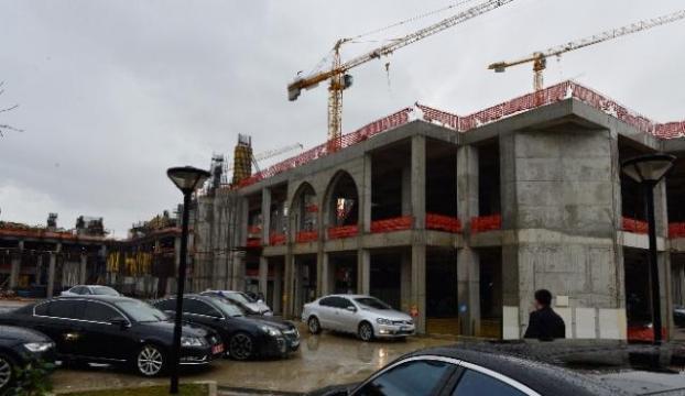 Çamlıca Camisinin inşaatı ilerliyor