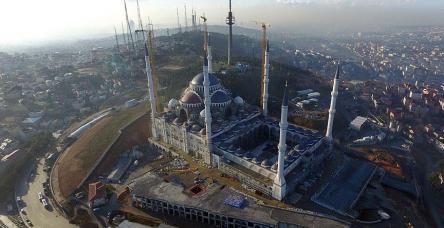 testÇamlıca Camii havadan görüntülendi