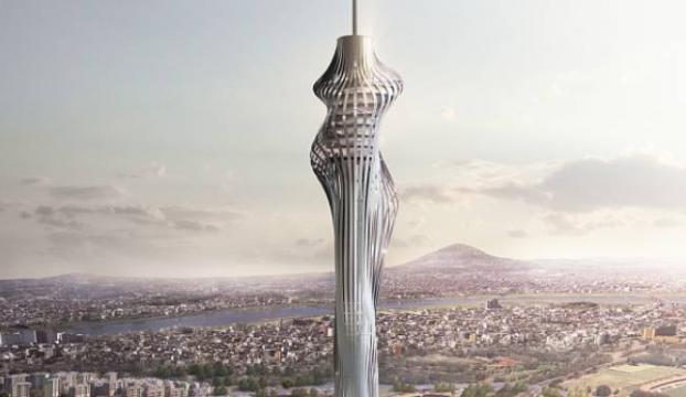 Başbakan Yıldırım, Küçük Çamlıca TV-Radyo Kulesi inşaatını inceledi