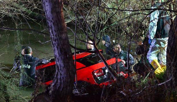 Çanakkalede derede kaybolan otomobil bulundu