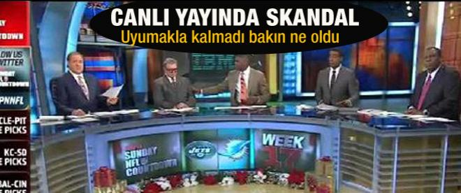 Canlı yayında skandal! Uyudu ardından...