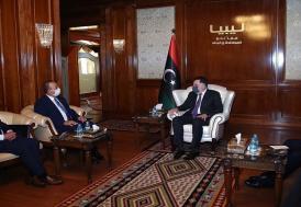 Dışişleri Bakanı Çavuşoğlu Trablus'ta Libya Başbakanı Serrac'la görüştü