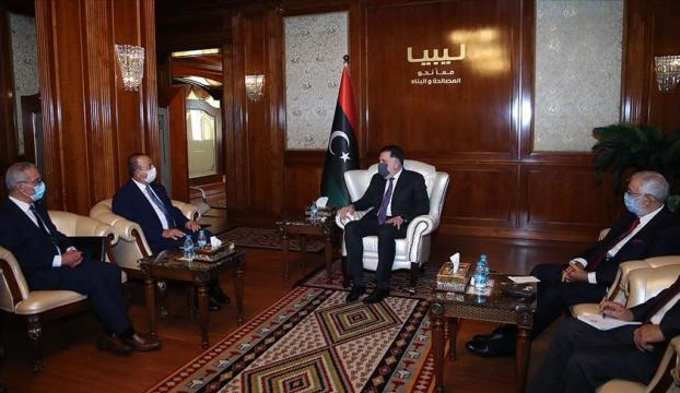 Dışişleri Bakanı Çavuşoğlu Trablusta Libya Başbakanı Serracla görüştü